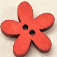 Large Flower Wooden Buttons